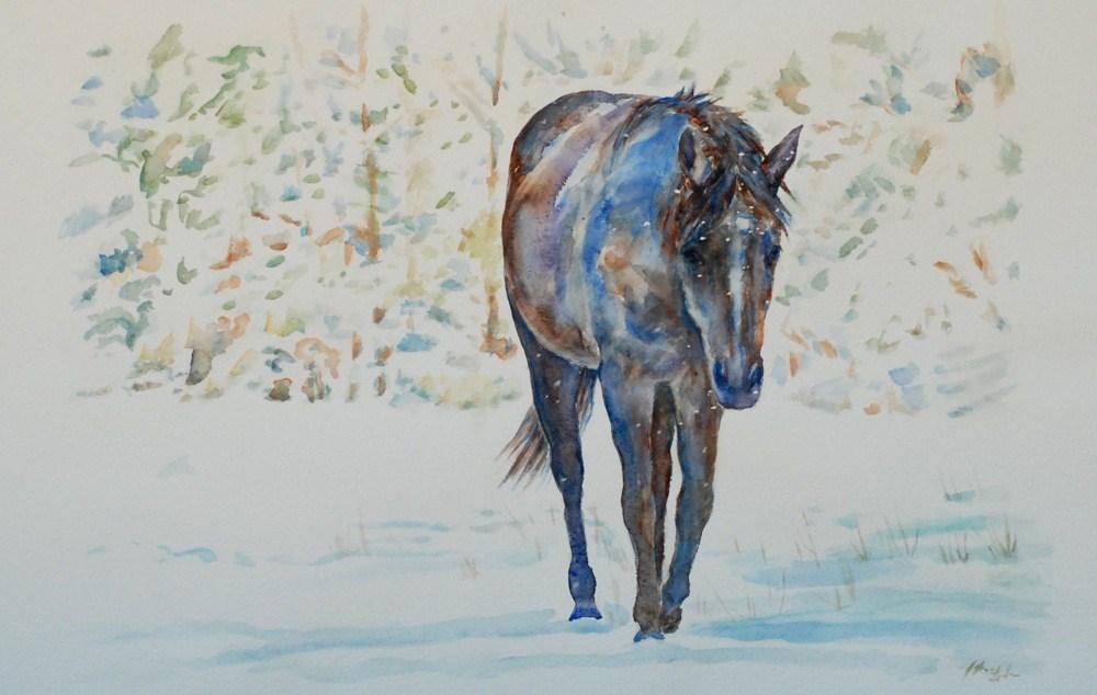 """Flurries"" original fine art by Vicki Wood"