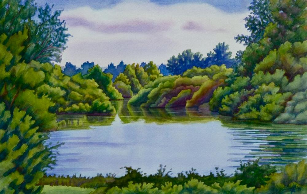 """Willamette View from Peoria"" original fine art by Mark Allison"