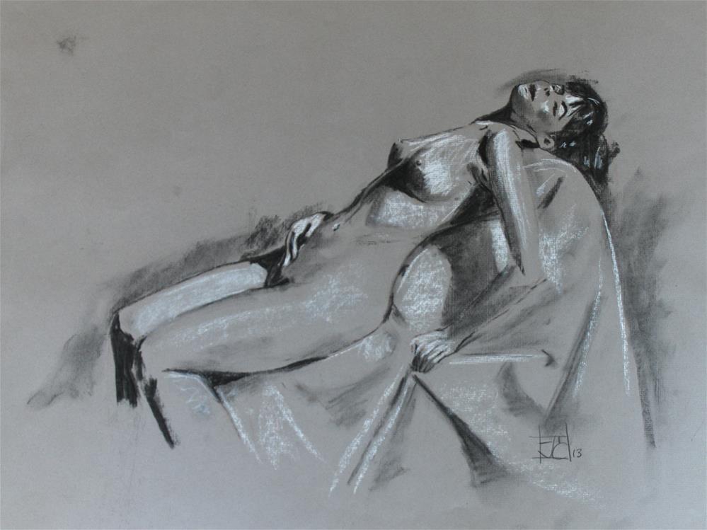 """Reclined woman"" original fine art by Arron McGuire"