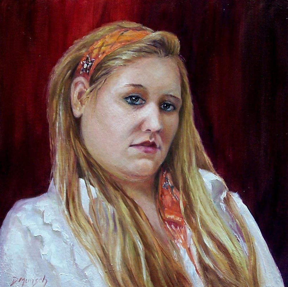 """""""Ann Marie"""" original fine art by Donna Munsch"""