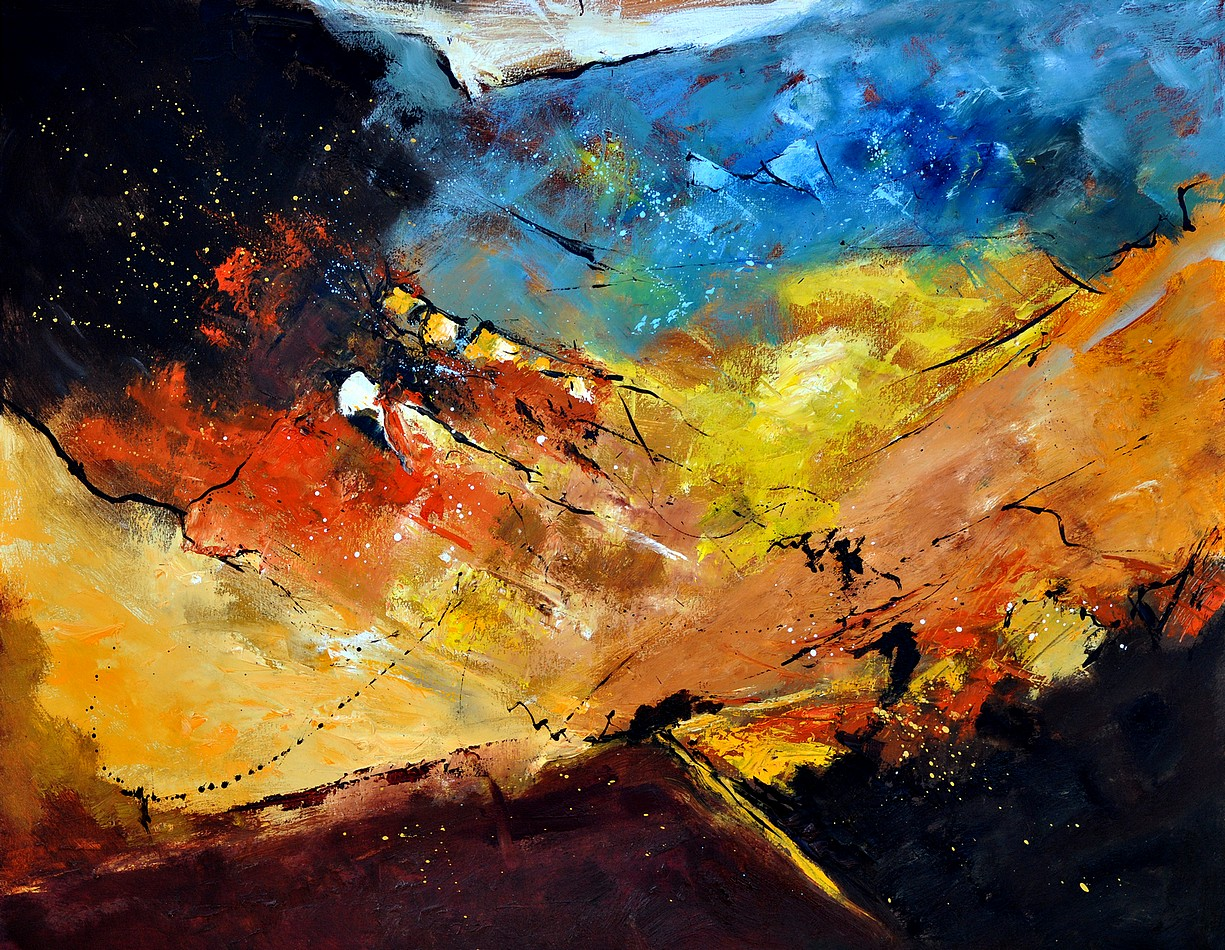 """abstract 1811013"" original fine art by Pol Ledent"