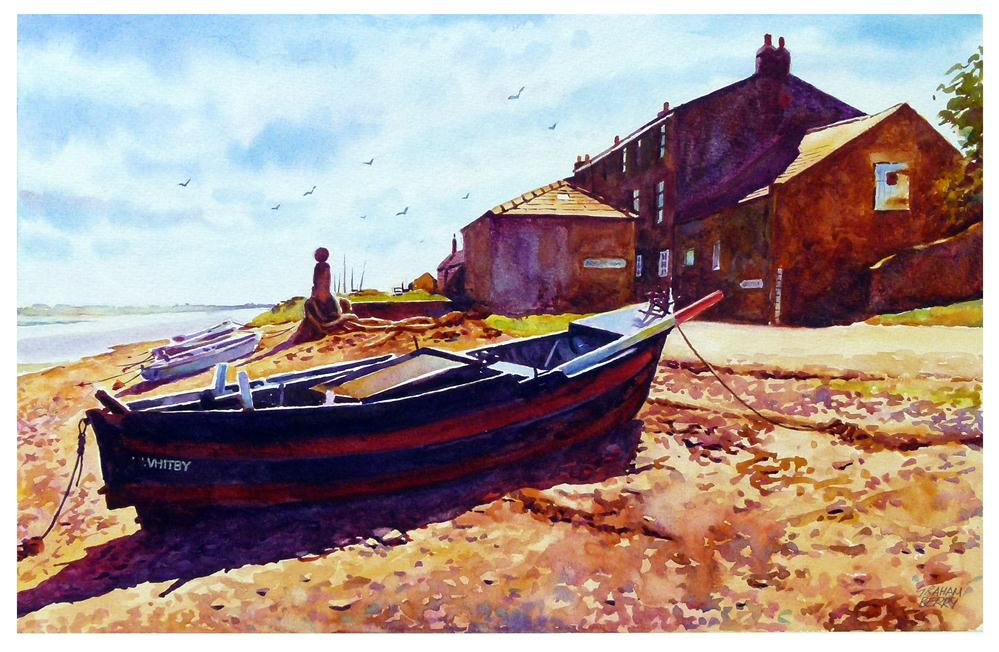 """Old boat, Sunderland point."" original fine art by Graham Berry"