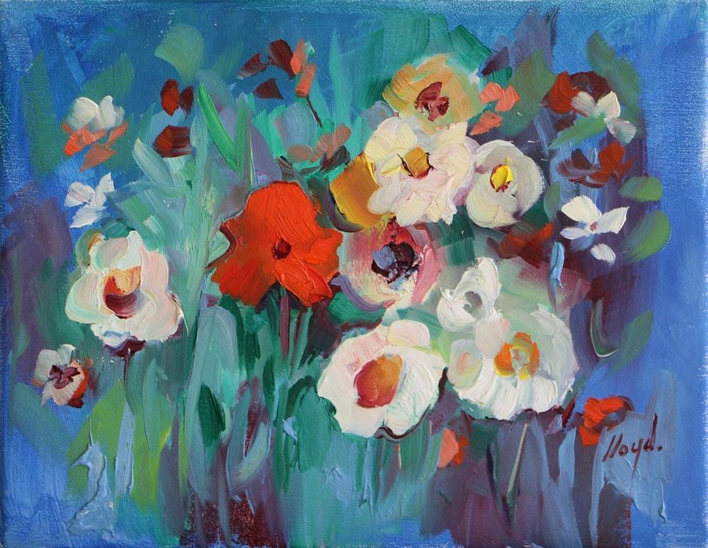 """In the Garden"" original fine art by Diane Lloyd"