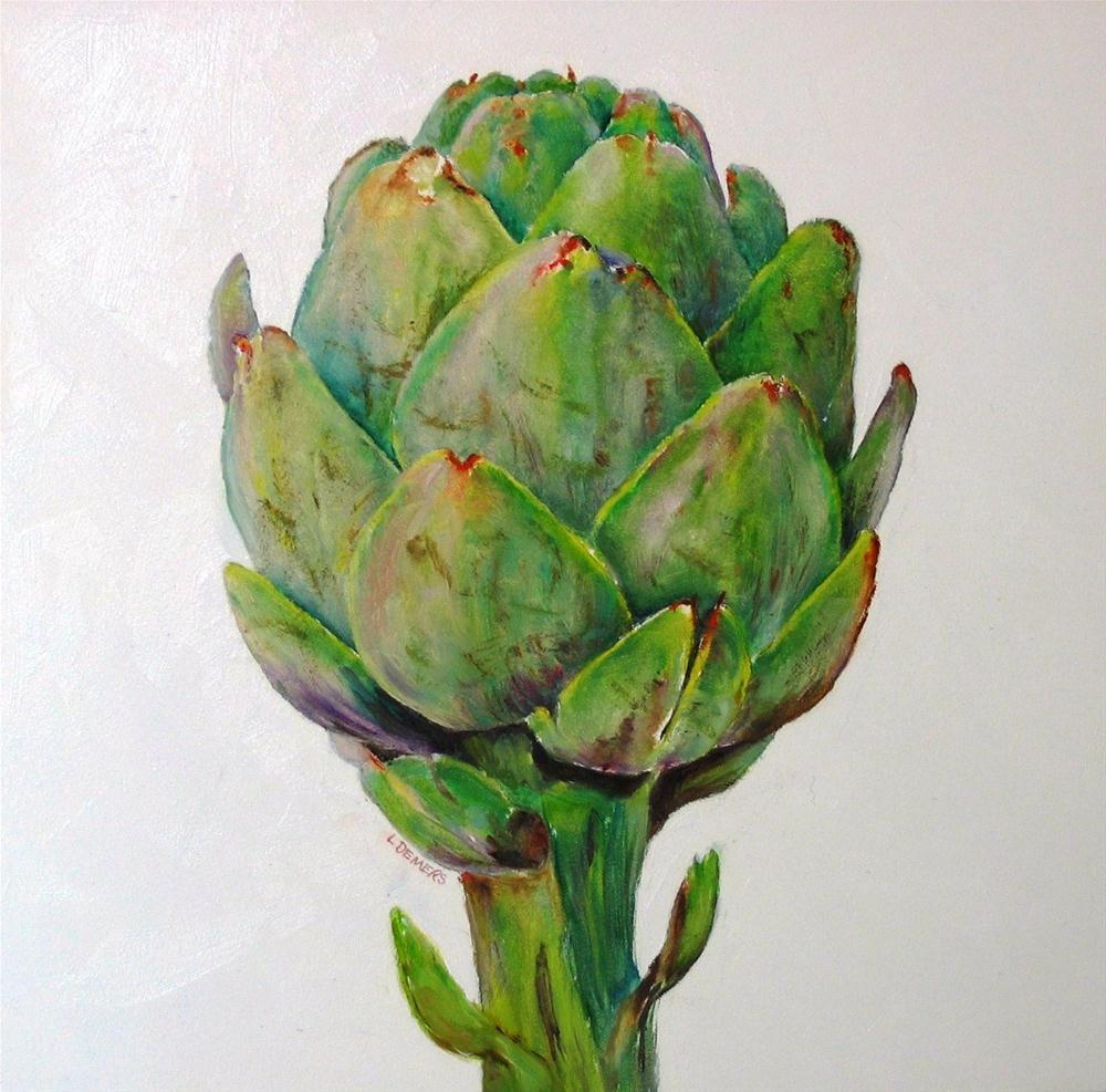 """Artichoke"" original fine art by Linda Demers"
