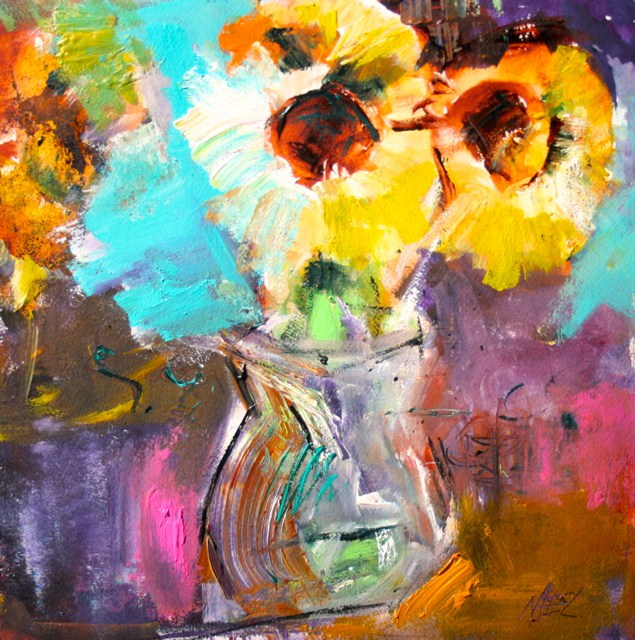 """Tournesol"" original fine art by Elizabeth Chapman"
