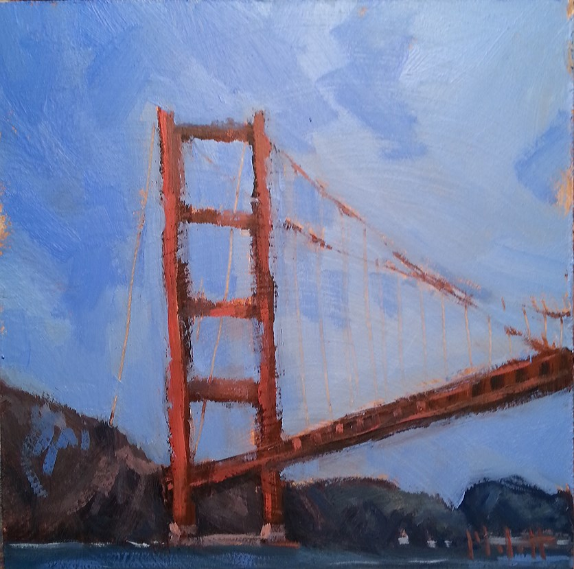 """Golden Gate Bridge San Francisco Oil Painting Heidi Malott"" original fine art by Heidi Malott"