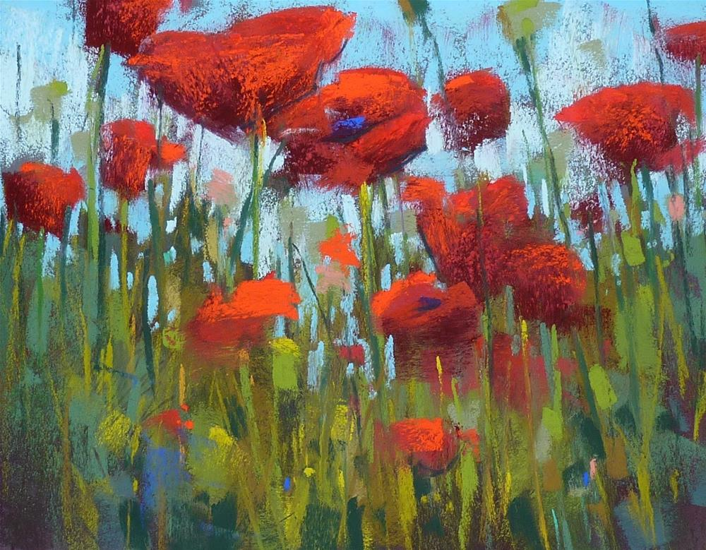 """Painting Poppies....Some Thoughts"" original fine art by Karen Margulis"