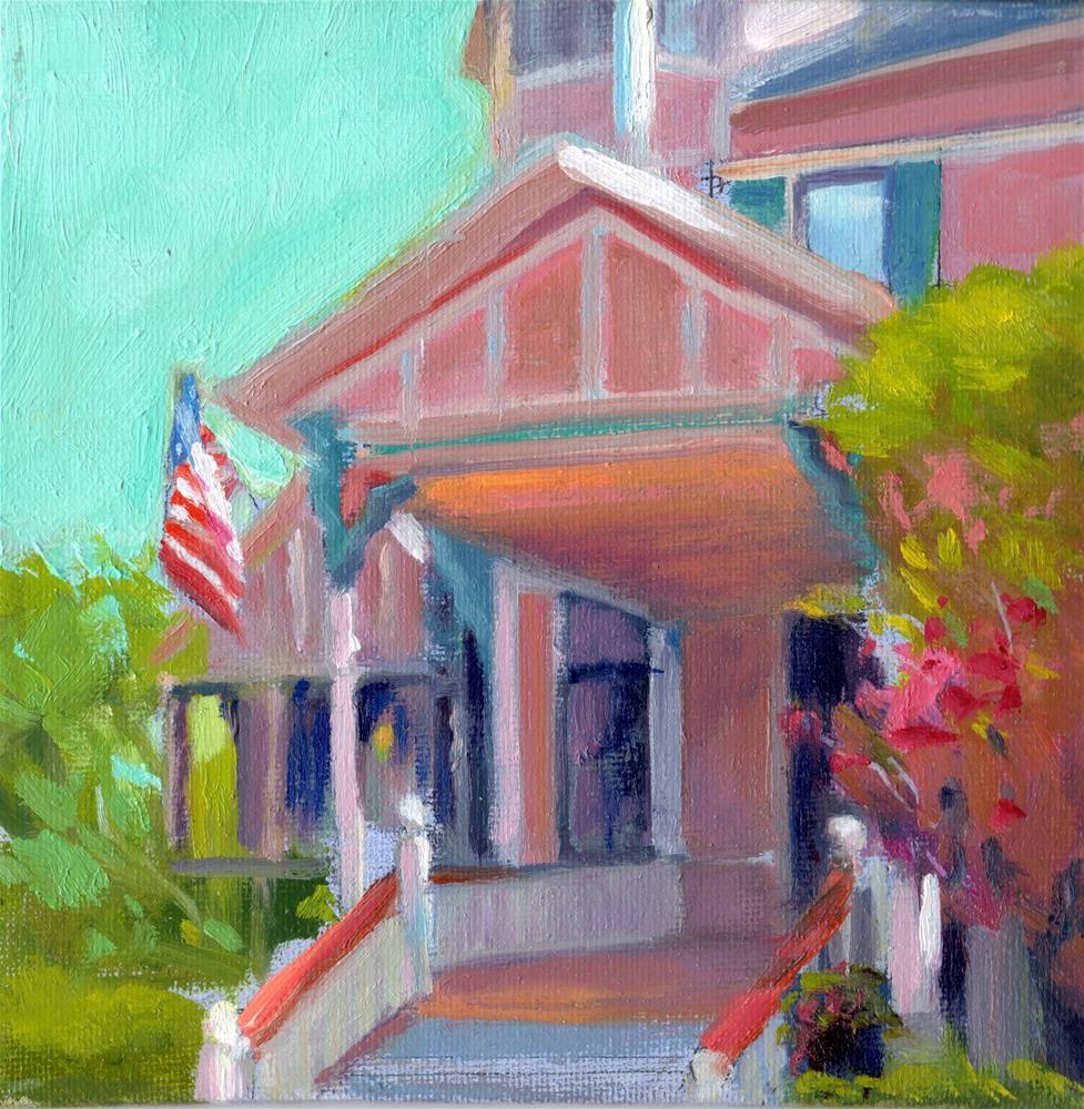 """Little Pink House"" original fine art by Kathy Bodamer"
