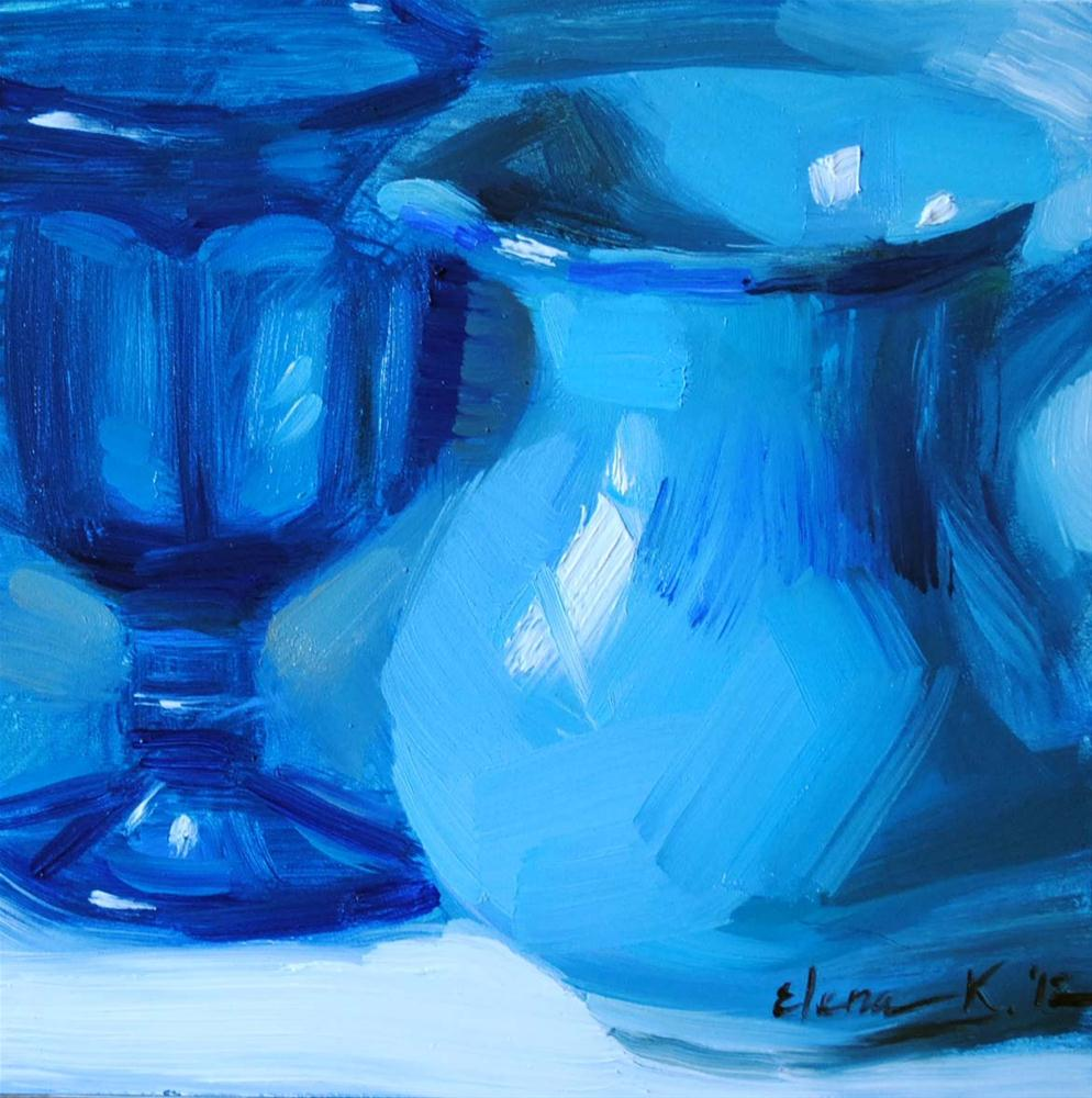 """True Blue"" original fine art by Elena Katsyura"