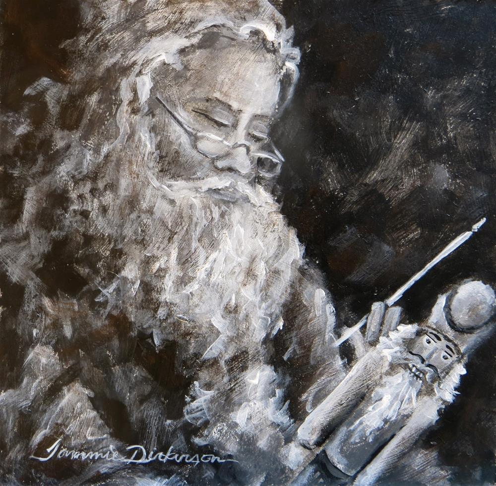 """Santa & the Nutcracker"" original fine art by Tammie Dickerson"
