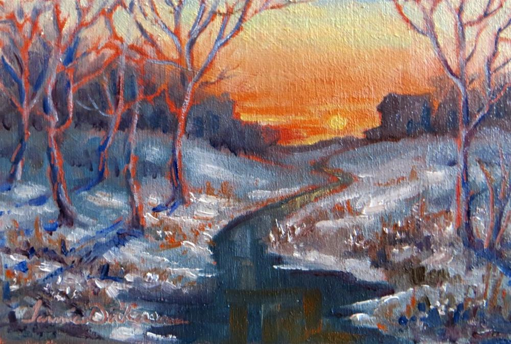 """Sunset at Winter's Creek"" original fine art by Tammie Dickerson"