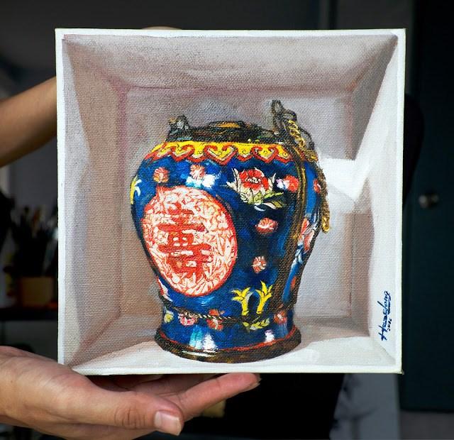 """""""Opium Pot"""" original fine art by Haze Long"""