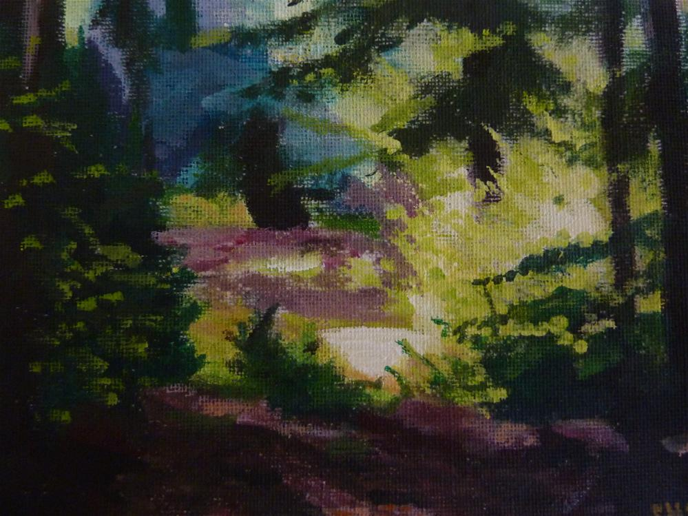 """Forest in Sunlight"" original fine art by Sandra Williams"