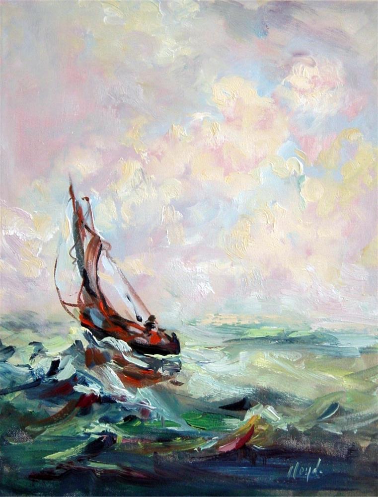 """""""Rough Seas"""" original fine art by Diane Lloyd"""