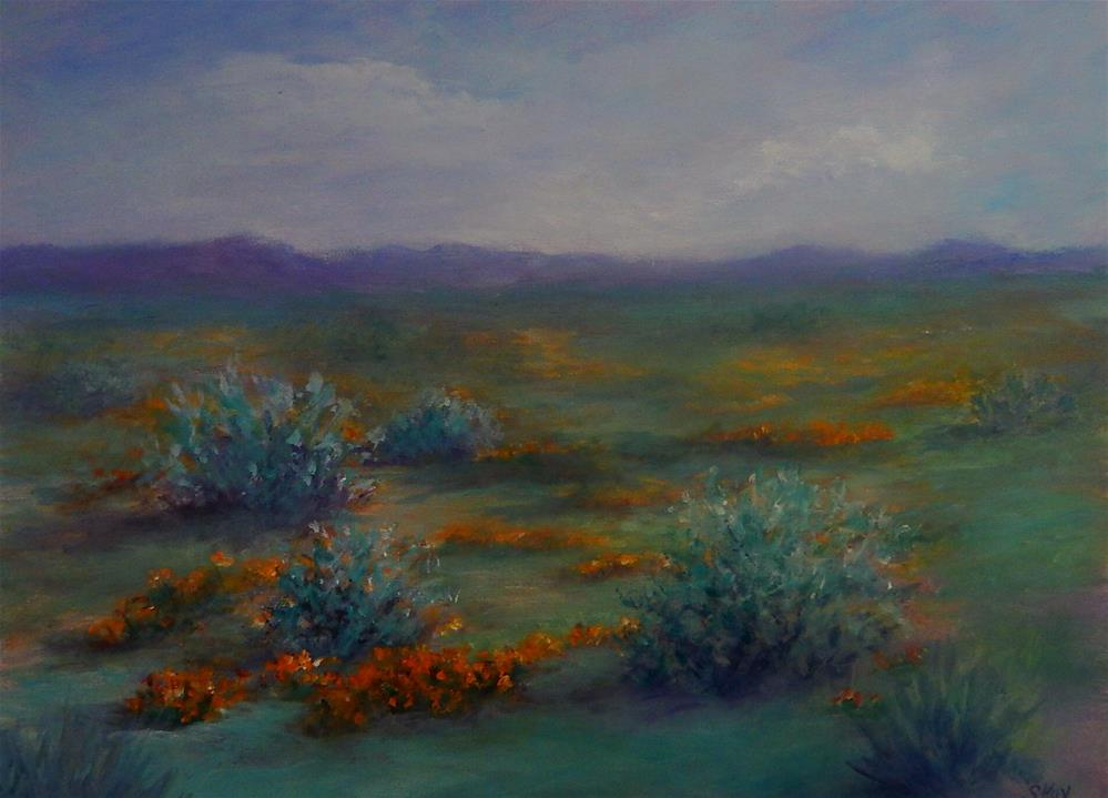 """""""Desert Poppies"""" original fine art by Sharon Kay Baker"""
