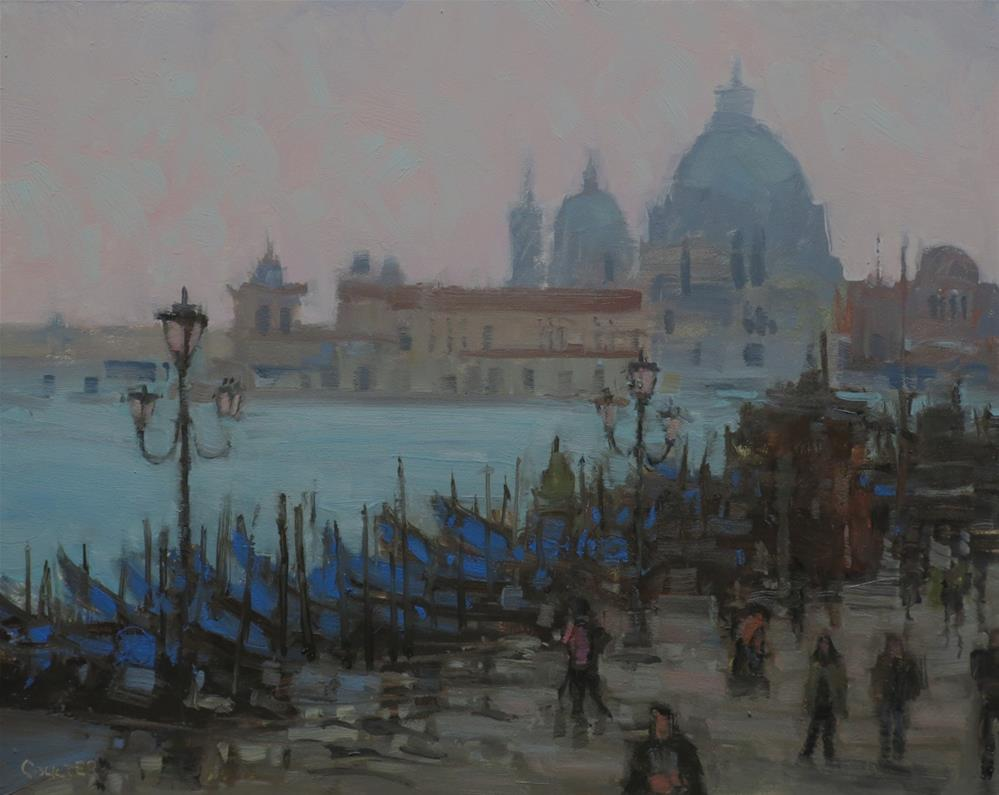 """BLU GONDOLAS"" original fine art by James Coulter"