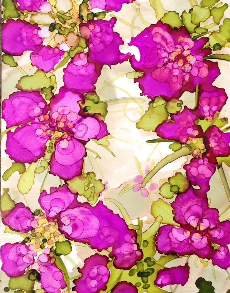 """Orchid Creeper"" original fine art by Kelly Alge"