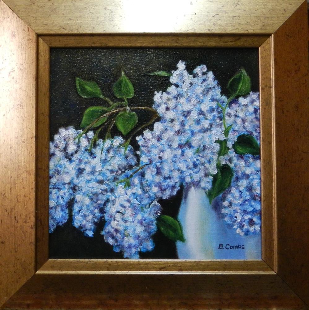 """""""Lilacs"""" original fine art by Bebe Combs"""