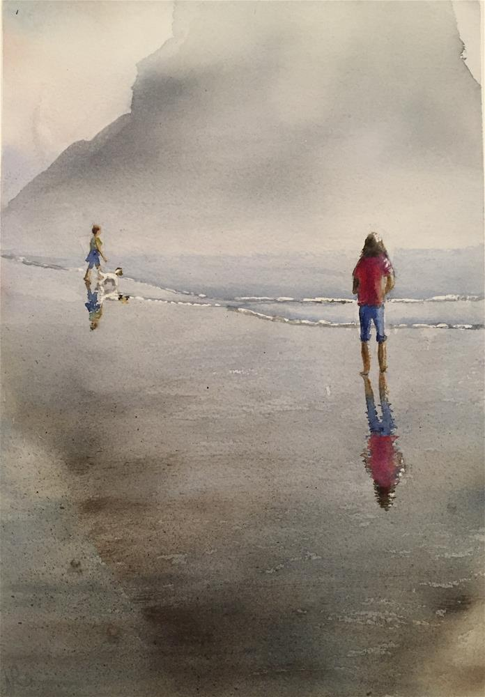 """Cannon Beach"" original fine art by Natasha Ramras"