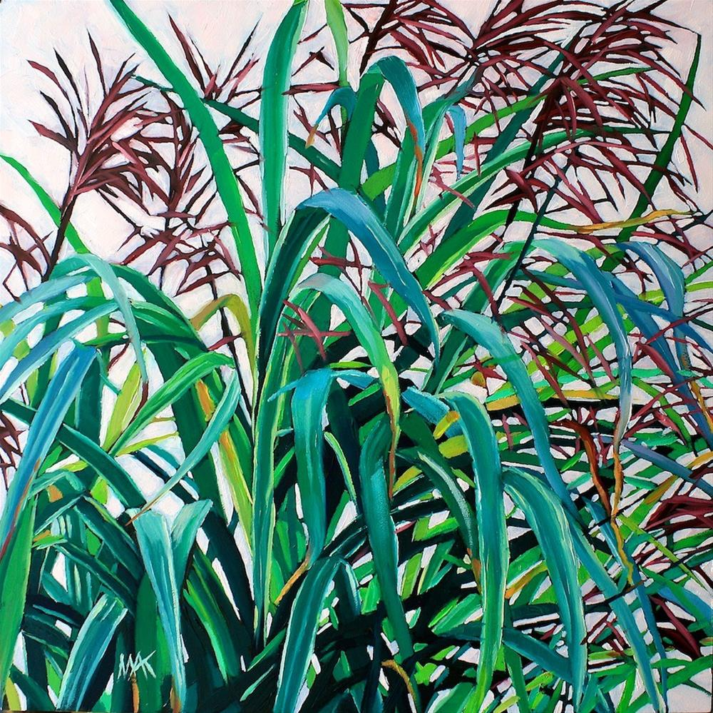 """Grass Poetry"" original fine art by Mary Anne Cary"