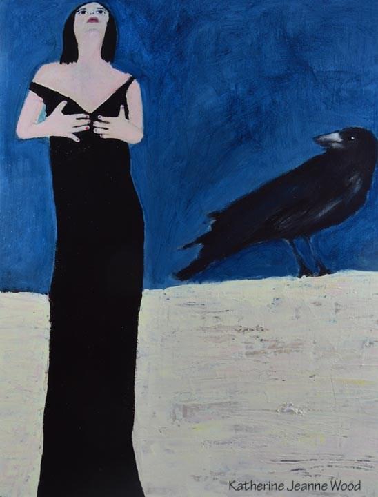 """""""Be Still my Heart"""" original fine art by Katie Jeanne Wood"""