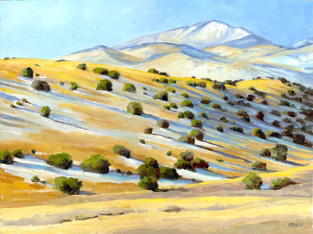 """Socorro Hills"" original fine art by Kath Reilly"