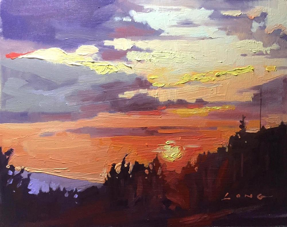 """Skyfire"" original fine art by Chris Long"