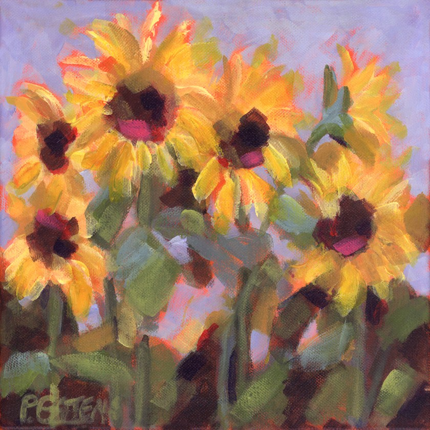 """Mini Suns"" original fine art by Pamela Gatens"