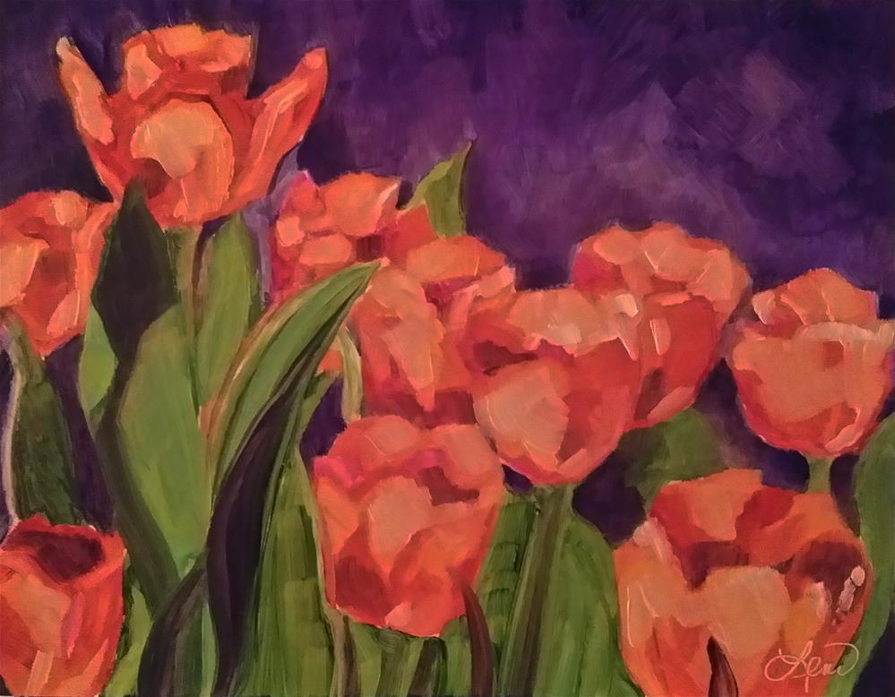 """Just Tulips"" original fine art by Leni Tarleton"