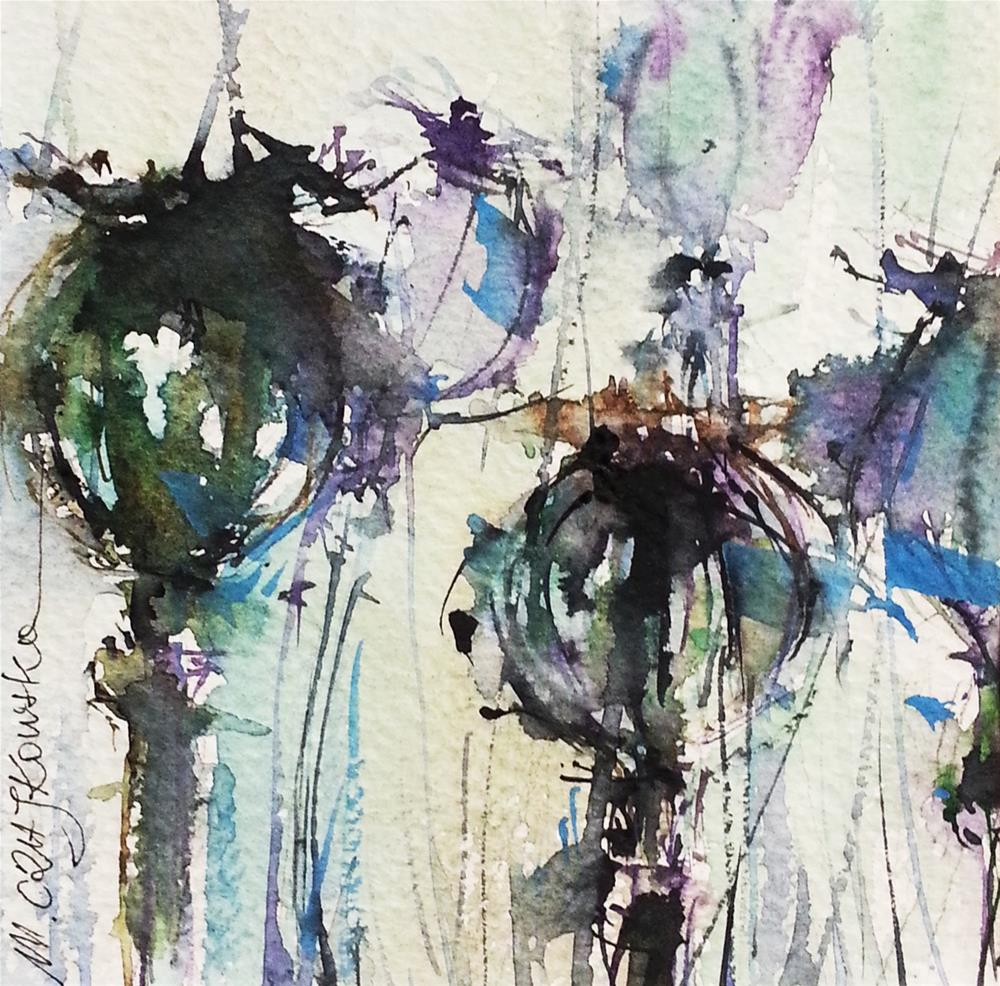 """Poppy 2"" original fine art by Marlena Czajkowska"