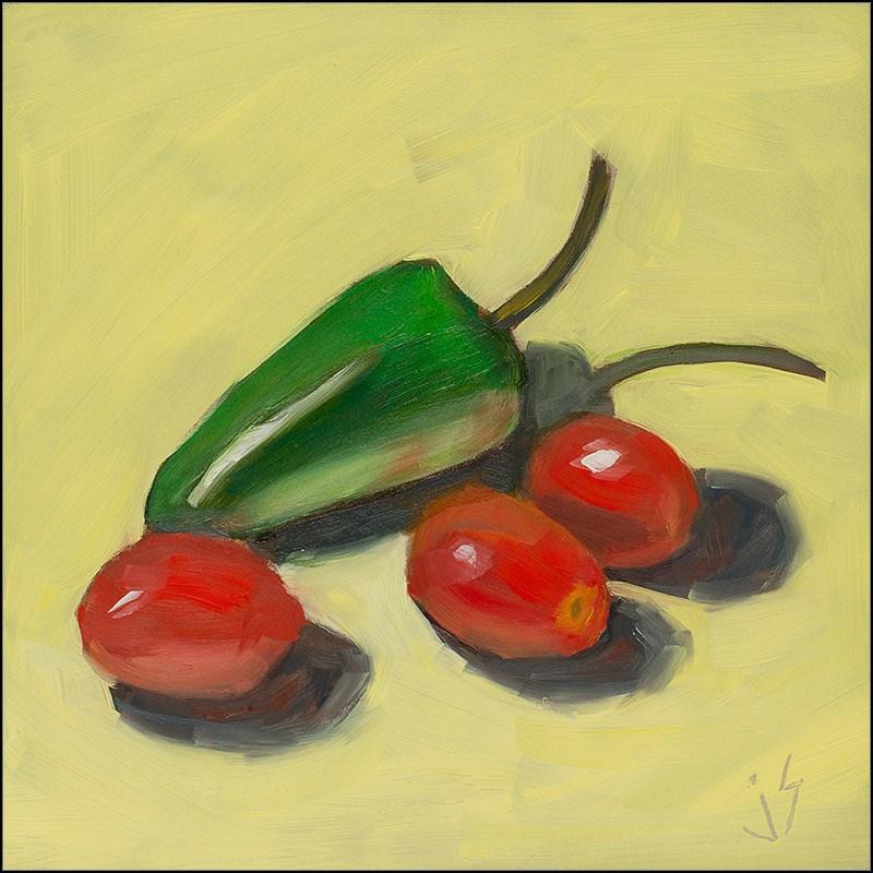 """""""Salsa Plan"""" original fine art by Johnna Schelling"""