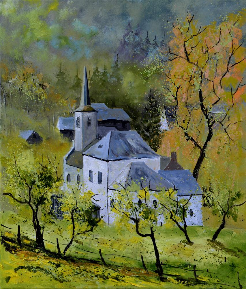 """Spring in Vaucelles"" original fine art by Pol Ledent"
