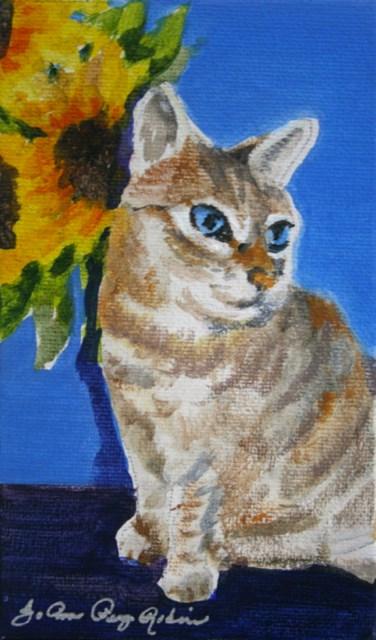 """""""My Model Leelou"""" original fine art by JoAnne Perez Robinson"""