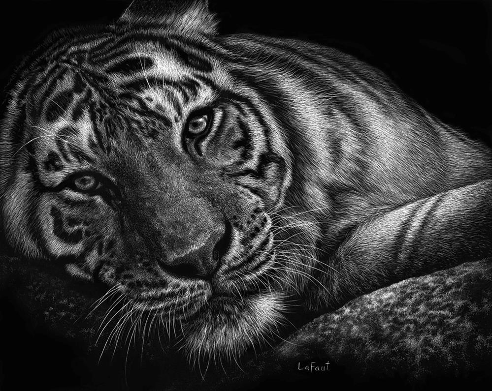 """The Watcher"" original fine art by Sandra LaFaut"