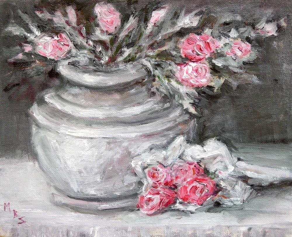 """""""Rosebud"""" original fine art by Mary Schiros"""