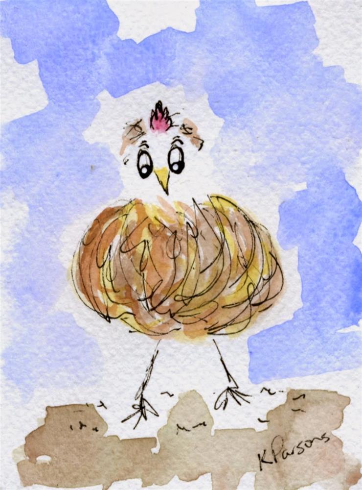 """""""Chicken Run"""" original fine art by Kali Parsons"""