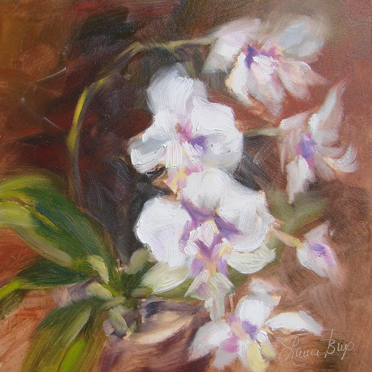 """All The Blooms -  395"" original fine art by Laura  Buxo"