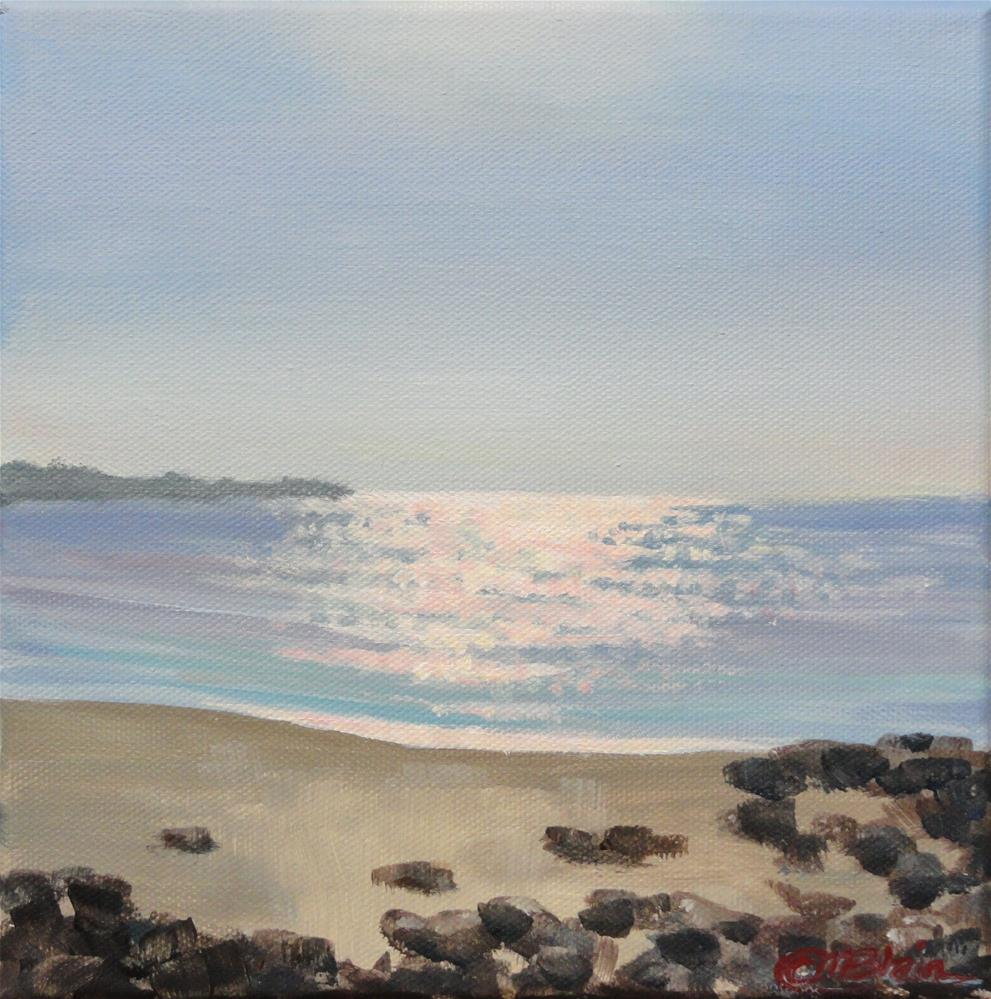 """York Beach Sunset, Maine"" original fine art by Christine Blain"