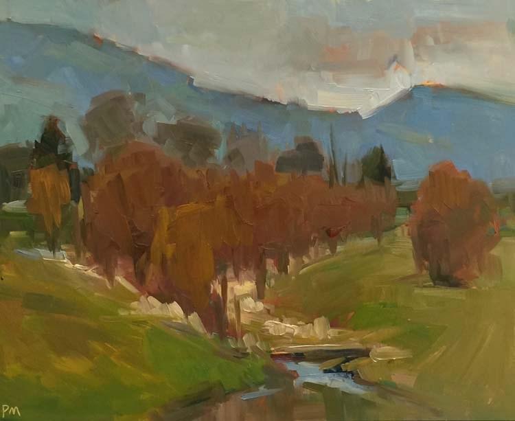 """Anything but Gold at Golden Gardens"" original fine art by Patti McNutt"