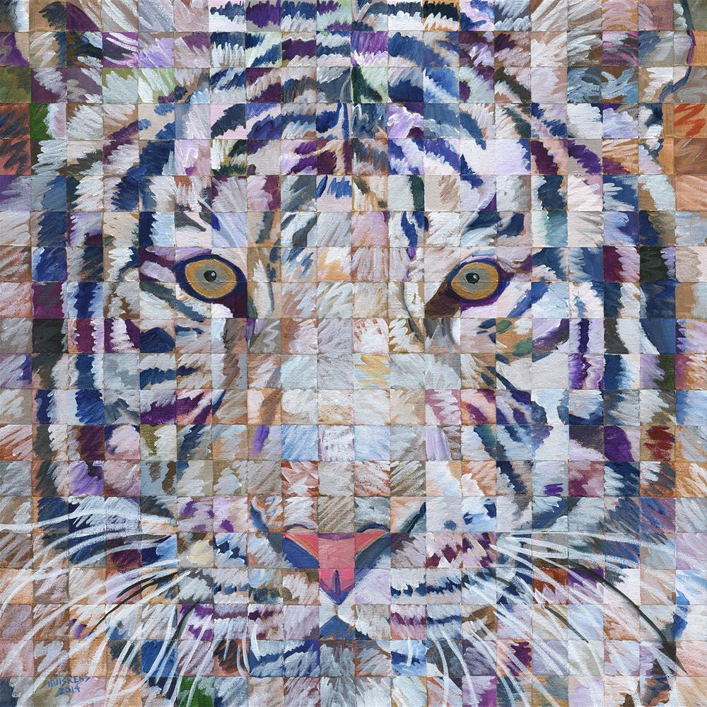 """Iridescent White Tiger"" original fine art by Randal Huiskens"
