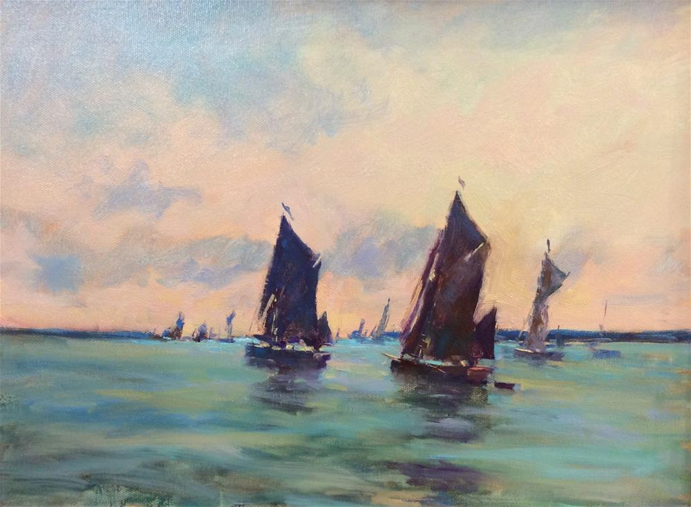 """Out From Brightlingsea"" original fine art by John Shave"