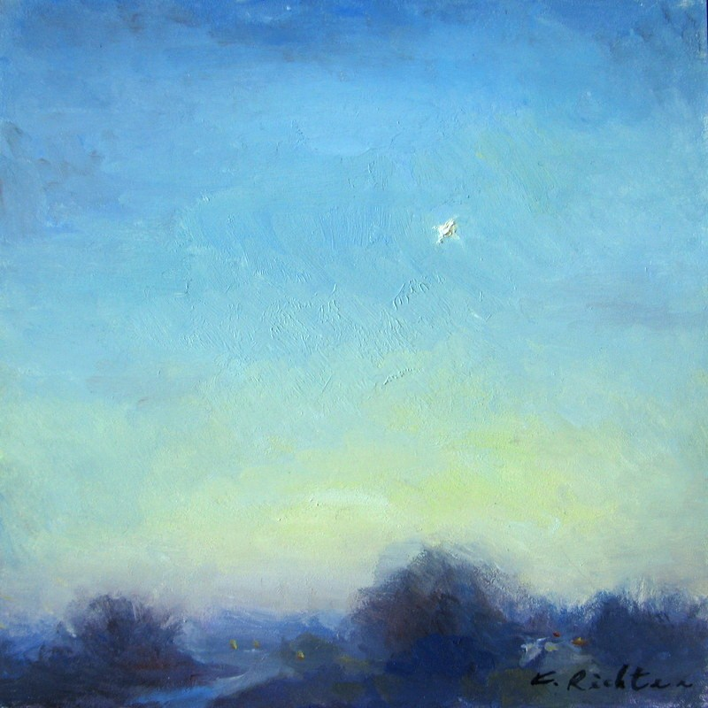 """Evening Star"" original fine art by Keiko Richter"