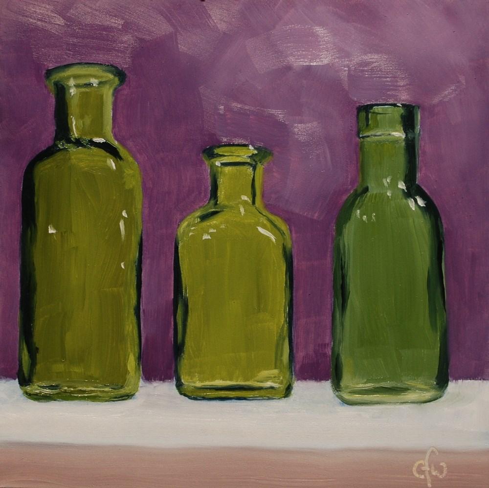 """Three Green Bottles"" original fine art by Gary Westlake"