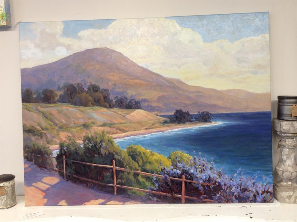 """""""Shoreline"""" original fine art by Leigh Alexandra Sparks"""