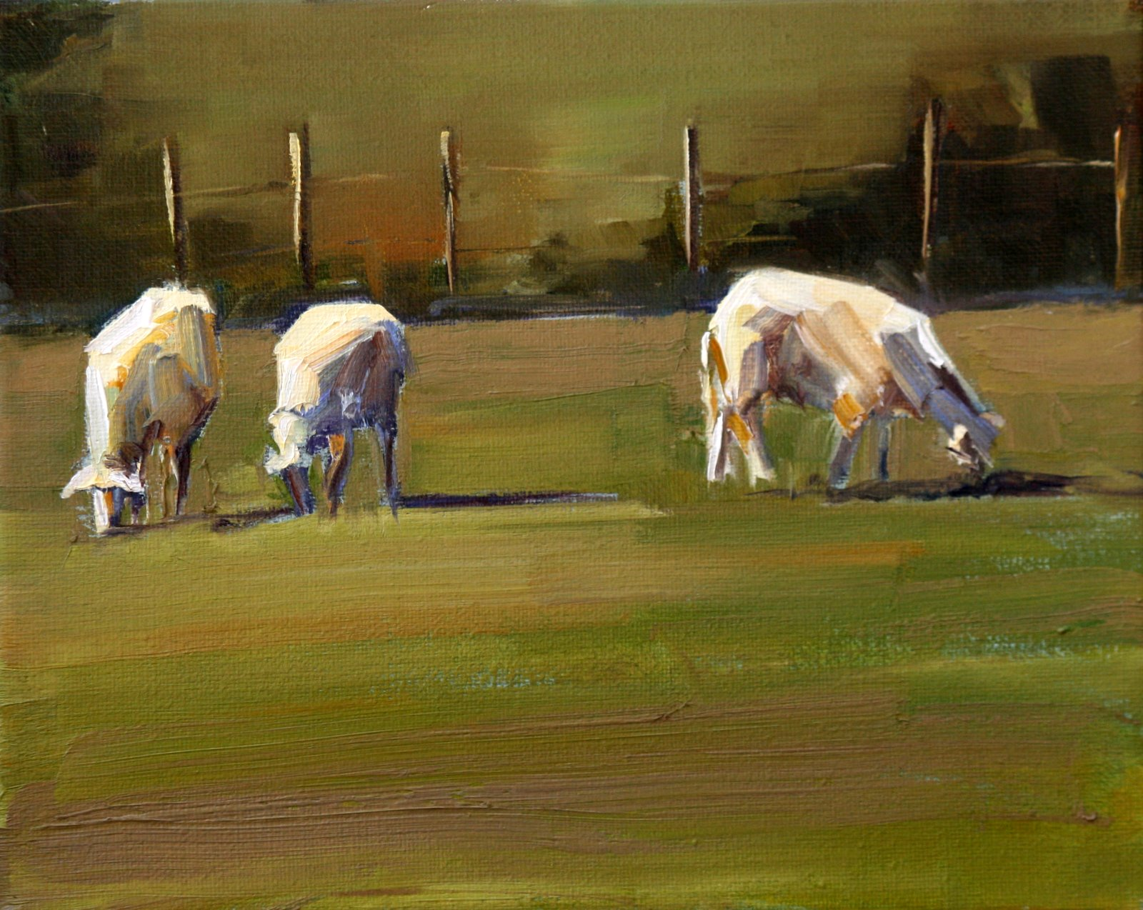"""sheeps"" original fine art by Carol Carmichael"