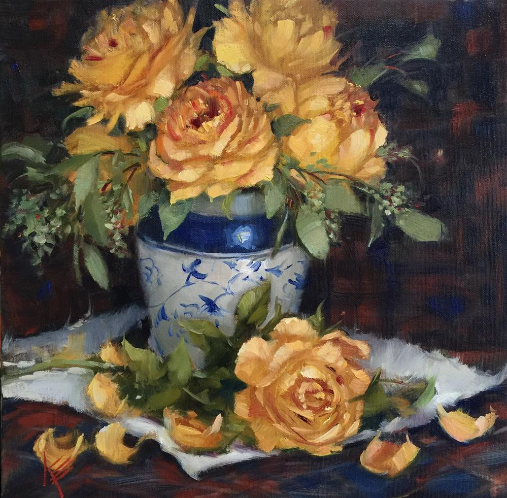 """Thanksgiving Roses"" original fine art by Krista Eaton"