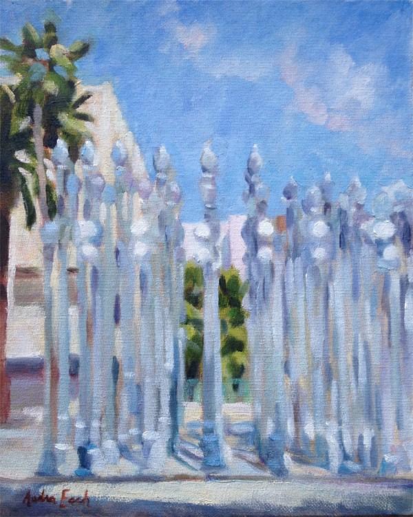 """Urban Lights at LACMA"" original fine art by Audra Esch"
