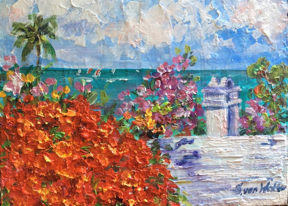 """""""Summer in Bermuda"""" original fine art by Sonia von Walter"""