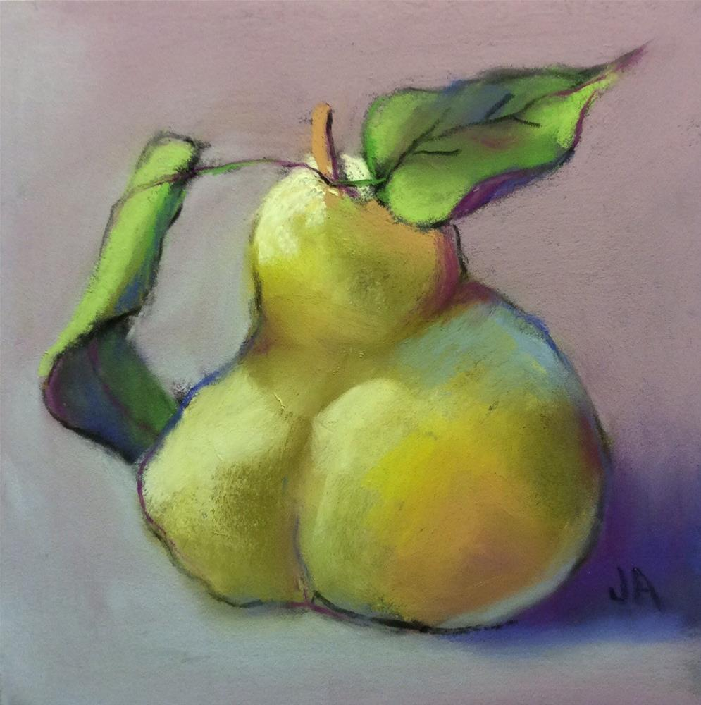"""A Quince a Day"" original fine art by Judy Albright"