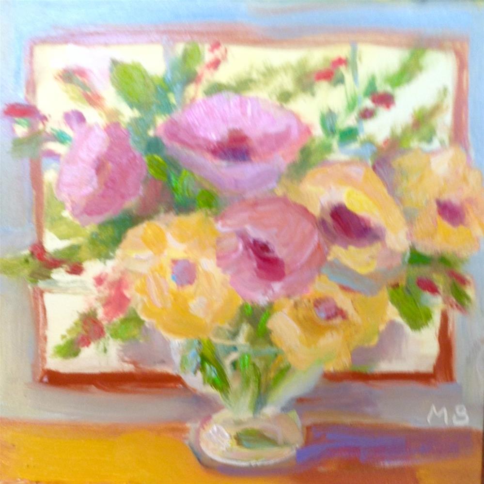 """Pastel Flowers"" original fine art by Marcia Bergtholdt"
